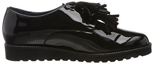Mary Zapatos Negro Mujer 01 de Oxford para BLU Black Cordones Pinto Di 01 qEzpwzt
