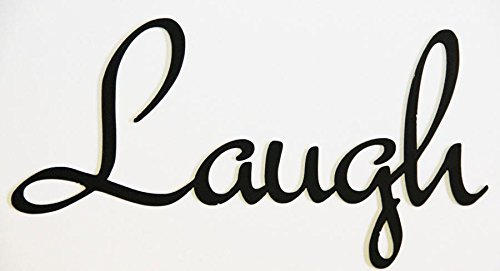 Wall Word Art Hand Crafted By Amish LAUGH
