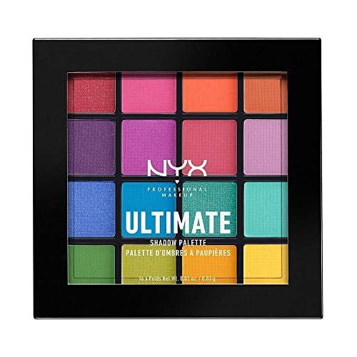 chollos oferta descuentos barato NYX Professional Makeup Paleta de sombra de ojos Ultimate Shadow Palette Pigmentos compactos 16 sombras Acabados mate satinados y metalizados Tono Brights