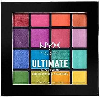 NYX Professional Makeup Paleta de Sombra de Ojos Ultimate Shadow Palette, Pigmentos Compactos, 16 Sombras, Acabados Mate, Satinados y Metalizados: Amazon.es: Belleza