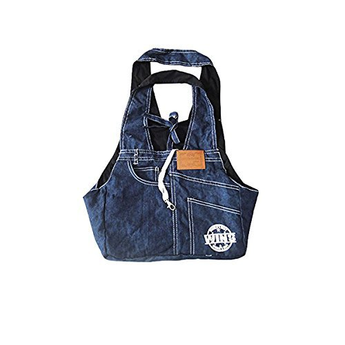 Dogloveit Denim Sling Carrier Bag for Puppy Pet , 21x13x6.7-inch, Blue