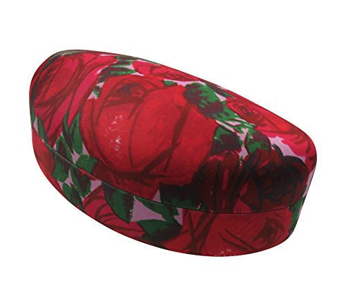 Rachel Rowberry Floral Sunglasses Case with eyeglass cleaning cloth in a unique Microfiber Smooth Finish | for Medium & Large frames (AS179 Vintage - Colored Multi Eyeglasses Frames
