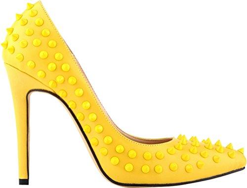 Cfp Con Sandalias Cuña Amarillo Mujer a4Yapxqrw