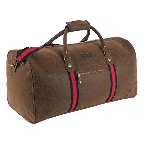 Kangol envejecido bolsa marrón Carryall–Bolsa de deporte, marrón, H: 29cm; W: 57cm; D: 29cm.