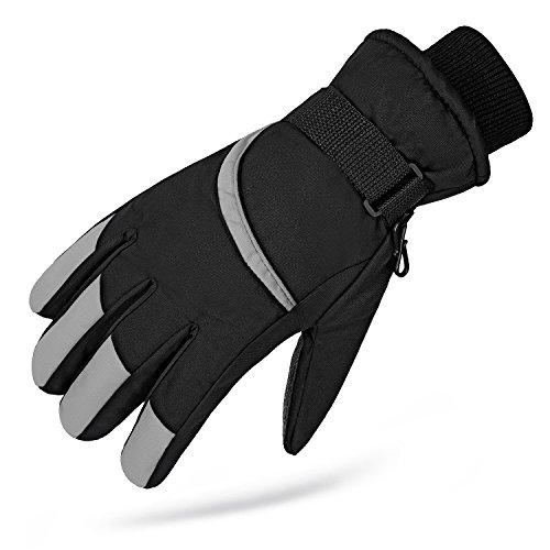 Ski Gloves ,Men's Waterproof Snowboard Skiing Full Finger Warm Snow Winter - Oakly Jacket Half