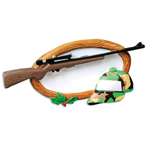 Personalized Hobbies Activities Hunting Christmas Tree Ornament 2019 - Rifle Gun Fatigue Hat Wood Sign Huntsman Stalker Trapper Wildlife Shooting Sport Profession Gift Year - Free Customization (Best Shotgun For Deer Hunting 2019)