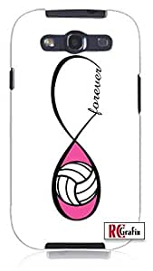 Cool Painting Forever Infinity Pink Volleyball Unique Quality Hard Snap On Case for Samsung Galaxy S4 I9500 - White Case