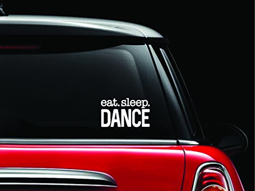 Eat Sleep Dance Decal Vinyl Sticker Cars Trucks Vans Walls Laptop  White  5 5 X 3 In Cci1011