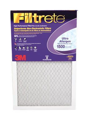 3M 2002DC-6 20'' X 20'' X 1'' Filtrete™ Ultra Allergen Furnace Filter by 3M