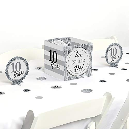 - Big Dot of Happiness We Still Do - 10th Wedding Anniversary - Party Centerpiece & Table Decoration Kit