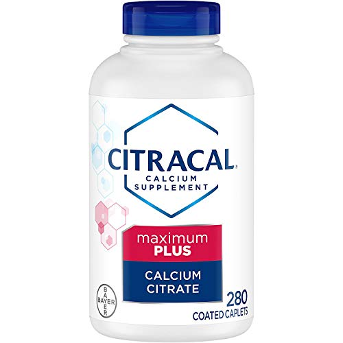 Bayer Citracal Calcium Citrate Plus D3 Maximum PLUS Essential Micronutrients Coated Caplets, 280 Count