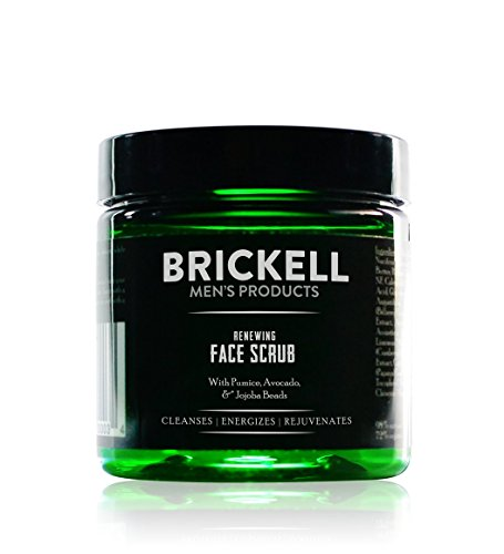 Brickell Men's Renewing Face Scrub for Men, Natural & Organic Exfoliating Facial...