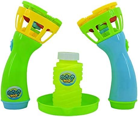 Catkoo Máquina De Varita De Burbujas Eléctrica De Mano Soplador Automático con Ventilador Juguete para Niños Al Aire Libre, Entrenamiento Perfecto Regalos De Inteligencia para Niños Verde: Amazon.es: Hogar