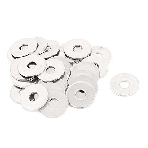 uxcell 6x20x1.5mm 304 Stainless Steel Flat Washer Spacer 30pcs for Pop Rivet -