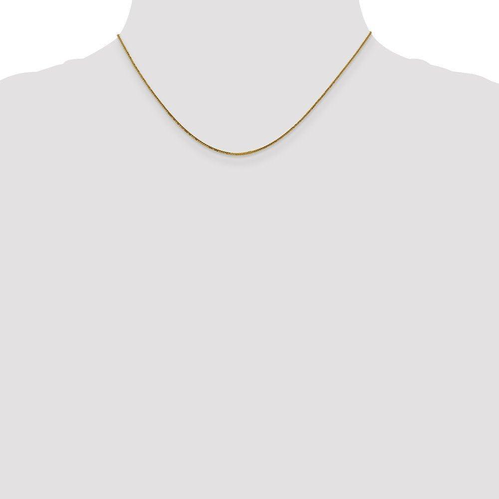 Jewelry Necklaces Chains Leslies 14K .8 mm Diamond-cut Quadra Wheat