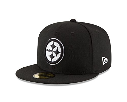 New Era NFL Pittsburgh Steelers Men's 59Fifty Fitted Cap, 8, ()