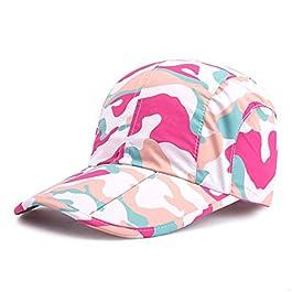 GADIEMKENSD Quick-Drying Folding Brim Camo Baseball Hat for Women Men