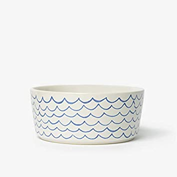 Waggo Sketched Wave Dog Bowl