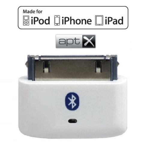 KOKKIA i10s + aptX (Luxurious White) Tiny Bluetooth iPod Transmitter for iPod/iPhone/iPad/iTouch with true Apple authentication, delivers cleaner audio with reduced latency for aptX Bluetooth receivers. by KOKKIA (Image #2)