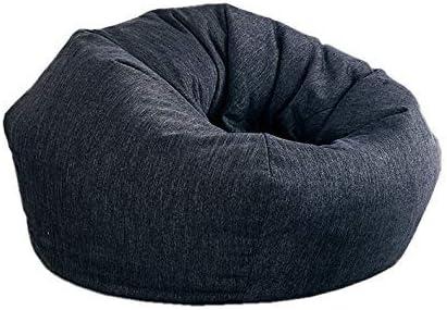 Aonier Fuf Soft Cotton Filled Cotton Bean Bag Chair for Kids Large Black Lenox Shredded Soft Silk Wadding Filling Large, Black