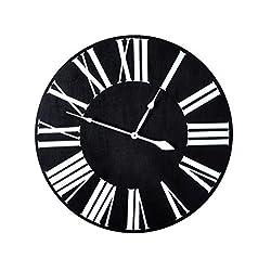 BrandtWorks, LLC AZ-ECC-024 Over Sized Wall Clock, 24 x 24, Black