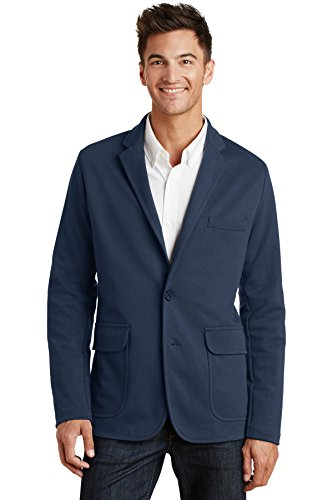 Port Authority Mens Knit Blazer (M2000) -DEEP NAVY -XL