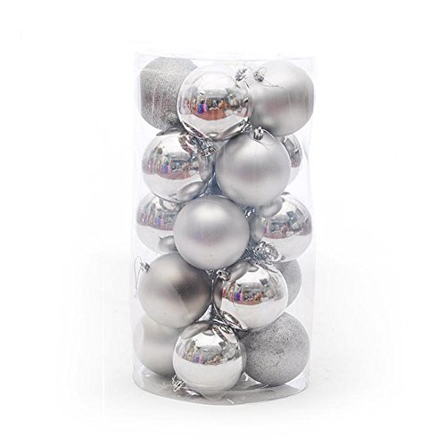 Tairacy 4cm Christmas Tree Balls Xmas Party Ornament Home Decorations 24pcs - Christmas Porcelain Ball