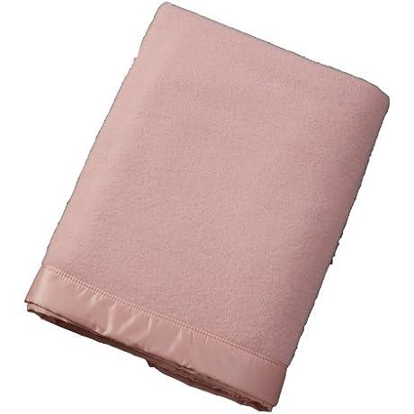 John Atkinson Contessa 100 Percent Merino Wool Heirloom Blanket King 100 Inch By 109 Inch Pastel Pink