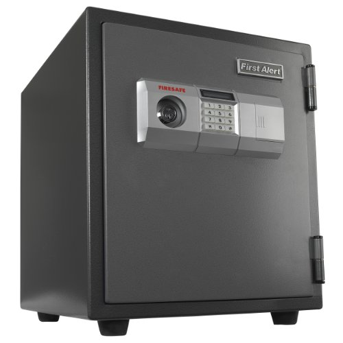 First Alert 2118DF 1 Hour Fire Steel Safe with Digital Lock, 1.9 Cubic Foot, Gray