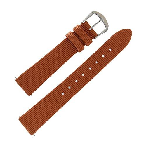 mm Regular Cinnamon Grosgrain Ribbon Ladies Watch Band (Grosgrain Ribbon Watch Band)