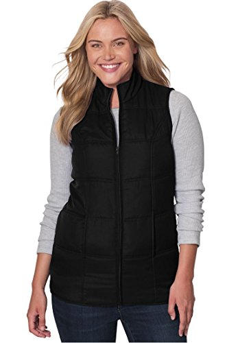 Woman Within Plus Size Quilted Vest - Black, M