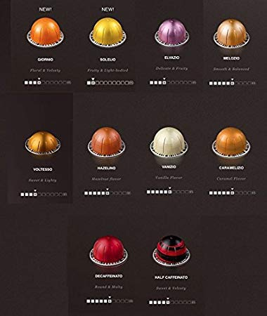 (Nespresso Vertuoline - The Mild Sampler Coffee & Espresso Capsules Pods: One Capsule of Each Mild Coffee Flavor Blend for a Total of 10 Capsules - Includes Flavored and Breakfast Blends)