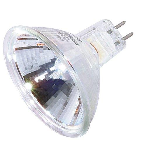 (Pack Of 10) 50MR16/FL - EXN -50 Watt - Flood- 12V - MR16 - GU5.3 Bi-Pin Base - Light Bulb With Lens - 50W MR16