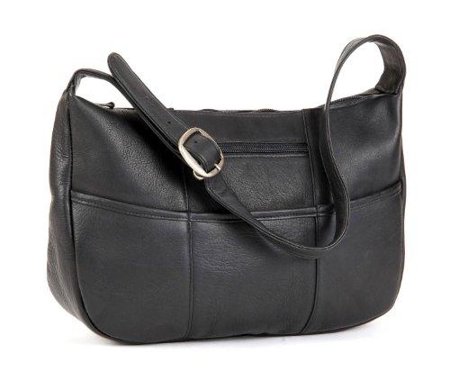 le-donne-leather-quick-slip-shoulder-bag-black