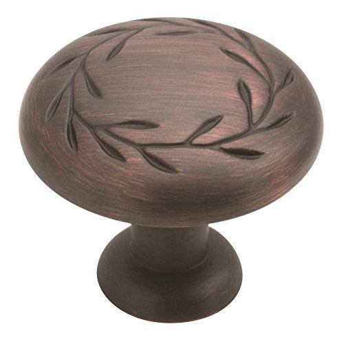 Amerock BP1581-ORB Inspirations Leaf 1-1/4-Inch Diameter Knob, Oil Rubbed Bronze