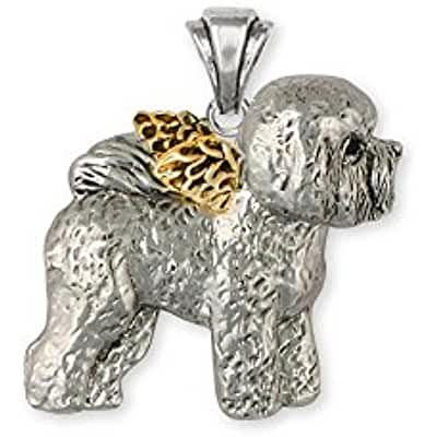 Silver and Gold Bichon Frise Pendant