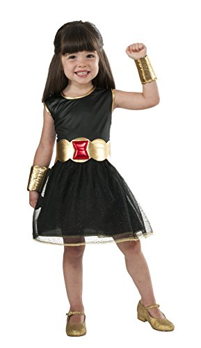 Marvel Universe Black Widow Costume Tutu Dress, Child's Small (Black Widow Avengers Costume)