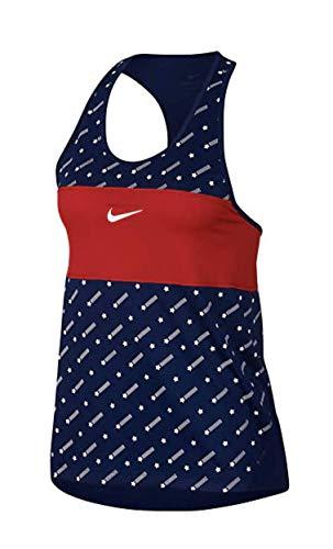 Nike Womens Miler Running Tank Stars Blue/University Red White/White S