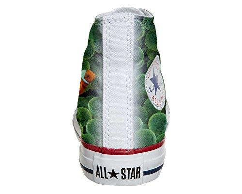 Scarpe Converse All Star personalizzate (scarpe artigianali) con Pesci Rossi