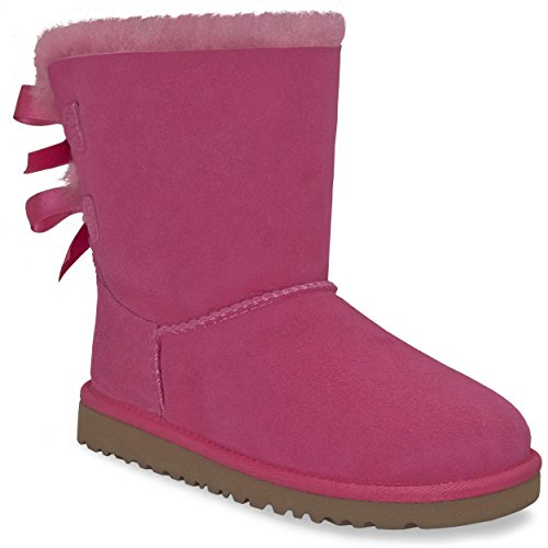 UGG Kids Girl's Bailey Bow (Little Kid/Big Kid) Cerise Boot 4 Big Kid M (Bailey Bow Uggs For Girls)