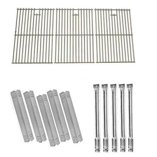 Jenn-Air 720-0727, 720-0709, 720-0709B Five Burner Gas Grill Repair Kit Includes 5 Stainless Heat Plates, 5 Stainless Steel Burners and Stainless Steel Cooking Grid