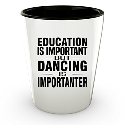 DANCING Shot Glass - Good for Gifts - Unique Coffee (80s Workout Video Costume)