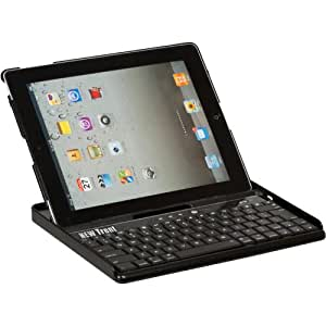 New Trent IMP39B/NT-39B Embassy Keyboard Case for iPad 2, Bluetooth keyboard /w leather finish back cover for Apple iPad 2 3G Tablet, WIFI Model, 16GB, 32GB, 64GB, with three different adjustable angles.