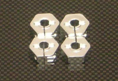 ST Racing Concepts ST3654-14S 14mm Clamp Wheel Hex Adapt (Silver)