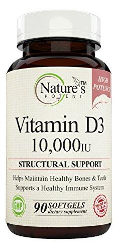 Natures Potent Vitamin D 3 Softgels product image