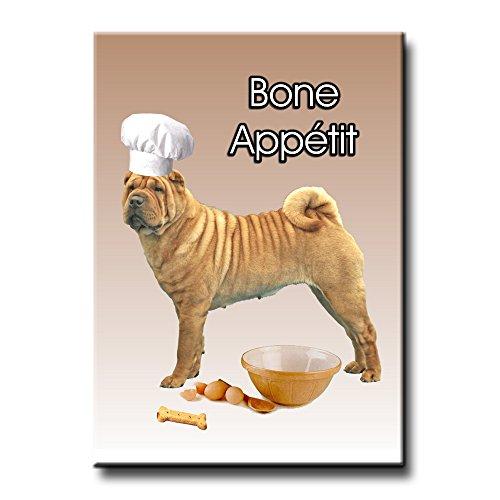 (Shar Pei Bone Appetit Chef Fridge Magnet No 2 Funny)
