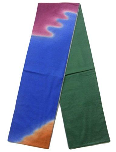 オフェンス航海の有益リサイクル 袋帯 紬 染め分け お太鼓柄 正絹