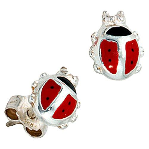 b012119c5dba Jobo Juego de joyas Niños Mariquita 925 plata colgante pendientes anillo 48  Cadena ...