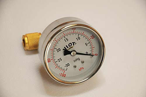 Analog Deep Vacuum Gauge with a Brass