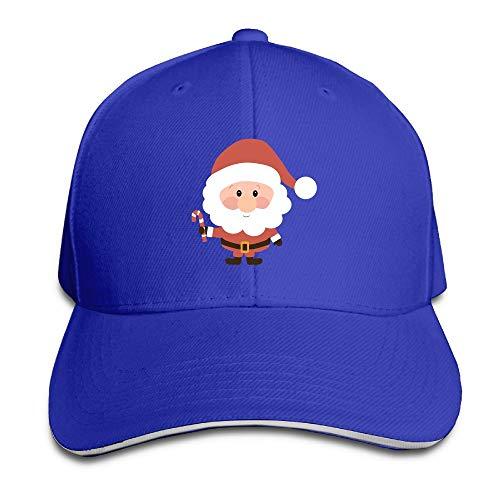 ONE-HEARTHR Adult Small Santa Claus Cotton Lightweight Adjustable Peaked Baseball Cap Sandwich Hat Men Women ()